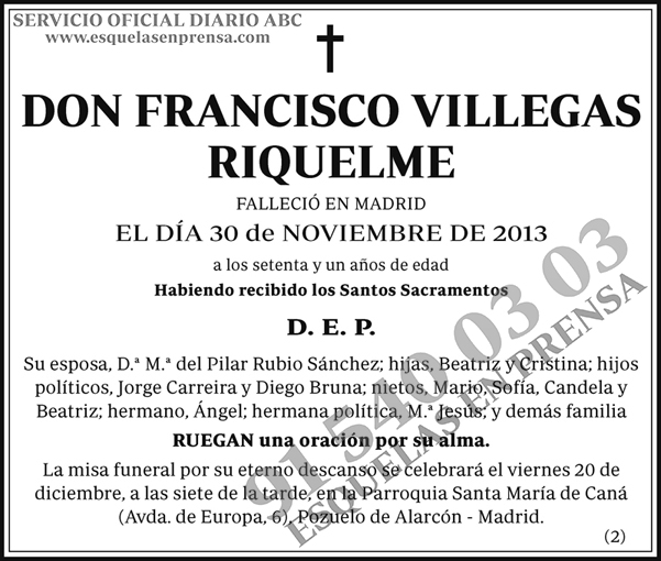 Francisco Villegas Riquelme